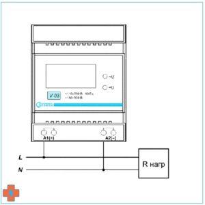 Схема подключения V-03. Сеть переменного напряжения.