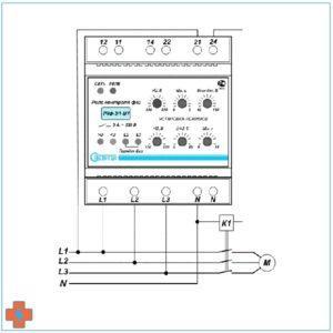 Типовая схема подключения РКФ-3/1-М1