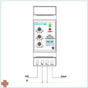 Типовая схема подключения РКН-3М