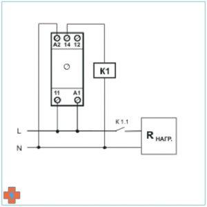 Типовая схема подключения реле РВ-200